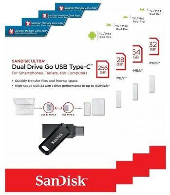 Sandisk Ultra Dual Drive Go USB to Type-C 32GB / 64GB / 128GB / 256GB 雙頭雙向記憶體手指 SDDDC3