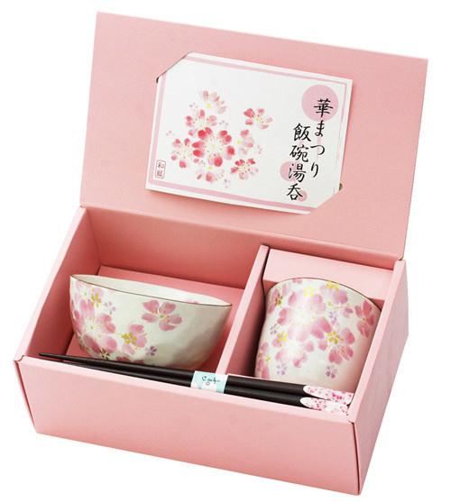 """日本制 Ceramic-ai """"&藍"""" 美濃燒 櫻花圖案套裝"""