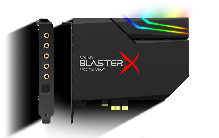 Creative Sound BlasterX AE-5 PLUS RGB PCI-e DAC 電競音效卡