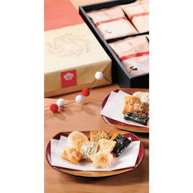 日本 東あられ 新年快樂雜錦米餅菓子禮盒 (1盒6包)【市集世界 - 日本市集】