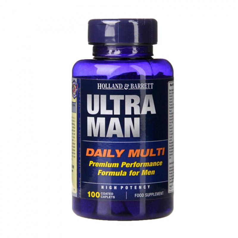 英國 HOLLAND & BARRETT Ultra Man 男士保健維配方 (100粒)