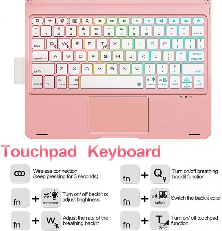 iPad Air 4 10.9, iPad Pro 11 2020/2018轉動藍牙Keyboard (兩色)