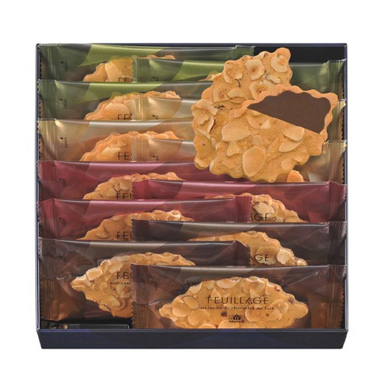 日版Morozoff 品牌代表作 堅果朱古力夾心 葉片薄脆禮盒 (1盒12件)【市集世界 - 日本市集】