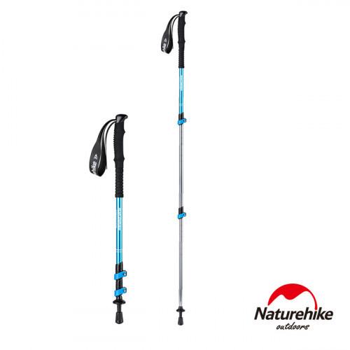 Naturehike ST01鋁合金三節外鎖行山杖 62-135cm輕便登山杖附杖尖保護套