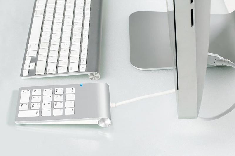 鋁合金USB數字鍵盤適用於iMac,MacBooks PC Notebook