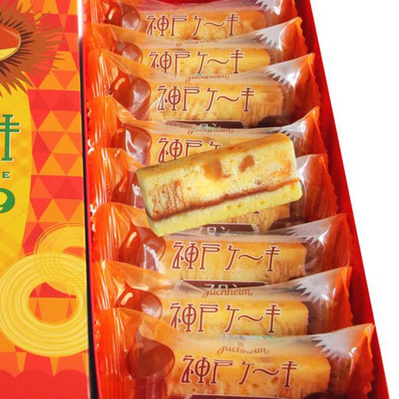 日本Juchheim 神戶限定 栗子夾心蛋糕禮盒 (1盒8件)【市集世界 - 日本市集】