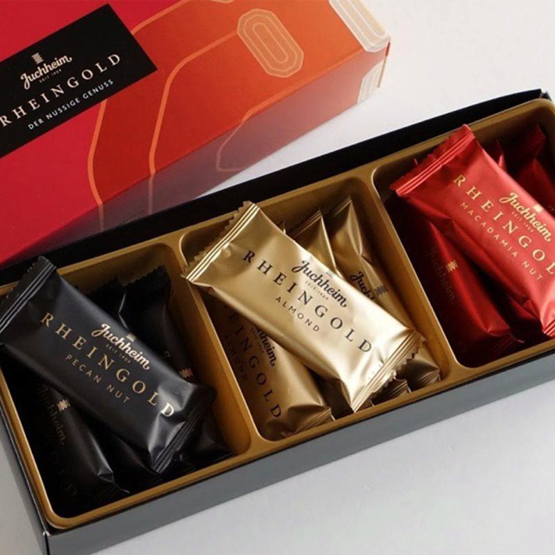 日本Juchheim 季節限定 3款名貴堅果 配搭朱古力餅禮盒 (1盒15件)