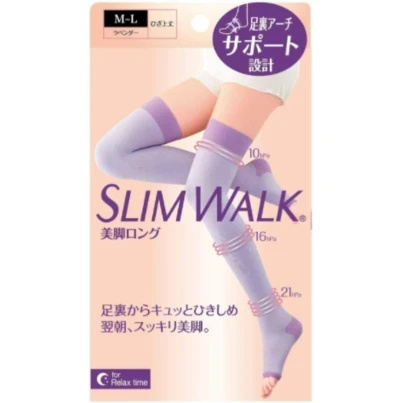 SLIMWALK - 日本美腿壓力襪加強緊實版 (睡眠型, 夜穿或家用) [3-7工作天寄出]