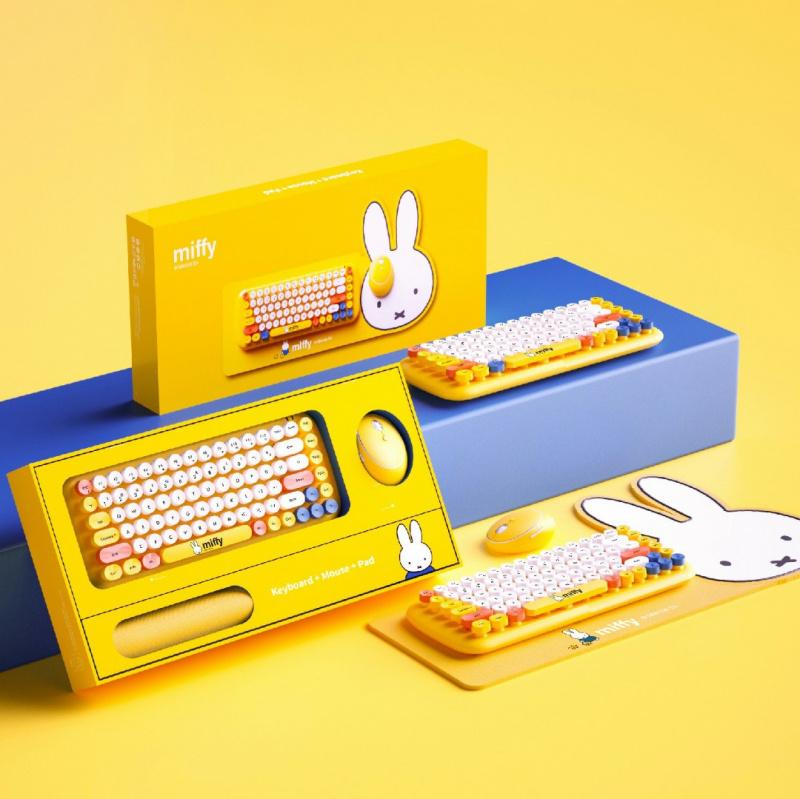 Miffy MPC-001無線鍵盤滑鼠套裝 [2色]