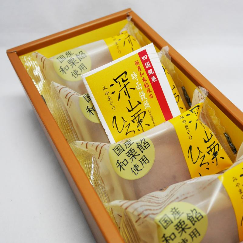 日本 畑田本舖 特級深山栗子蓉 時雨饅頭禮盒 (1盒5件)【市集世界 - 日本市集】