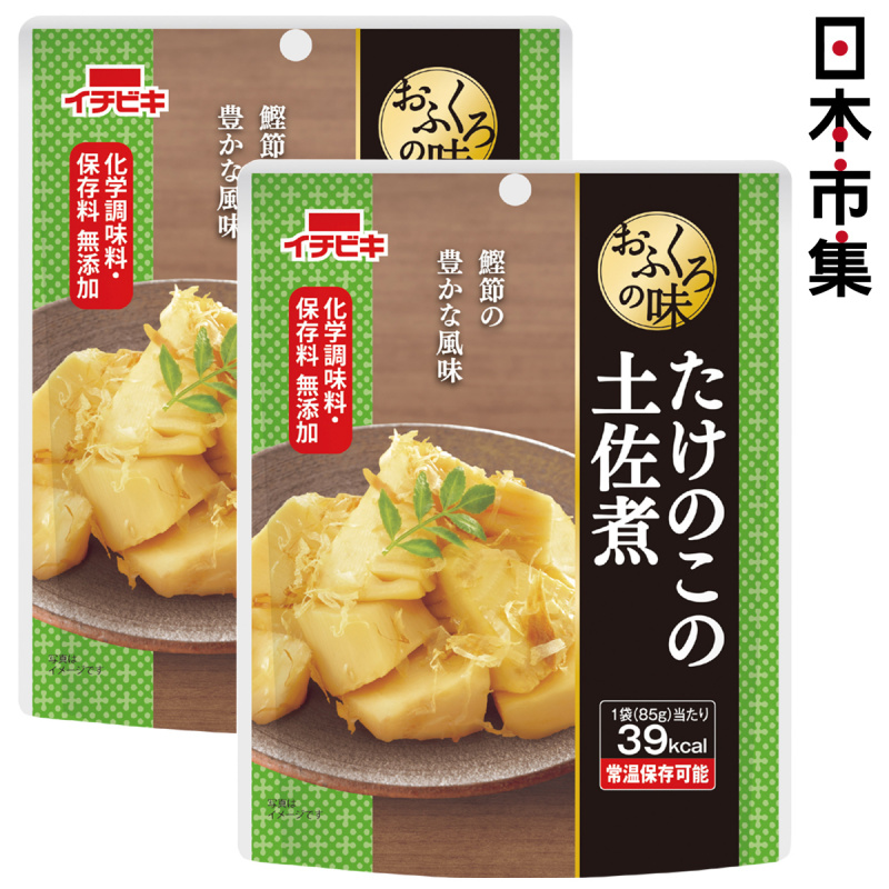 日本 イチビキ 無添加即食前菜料理 鰹魚絲竹筍 85g (2件裝)【市集世界 - 日本市集】