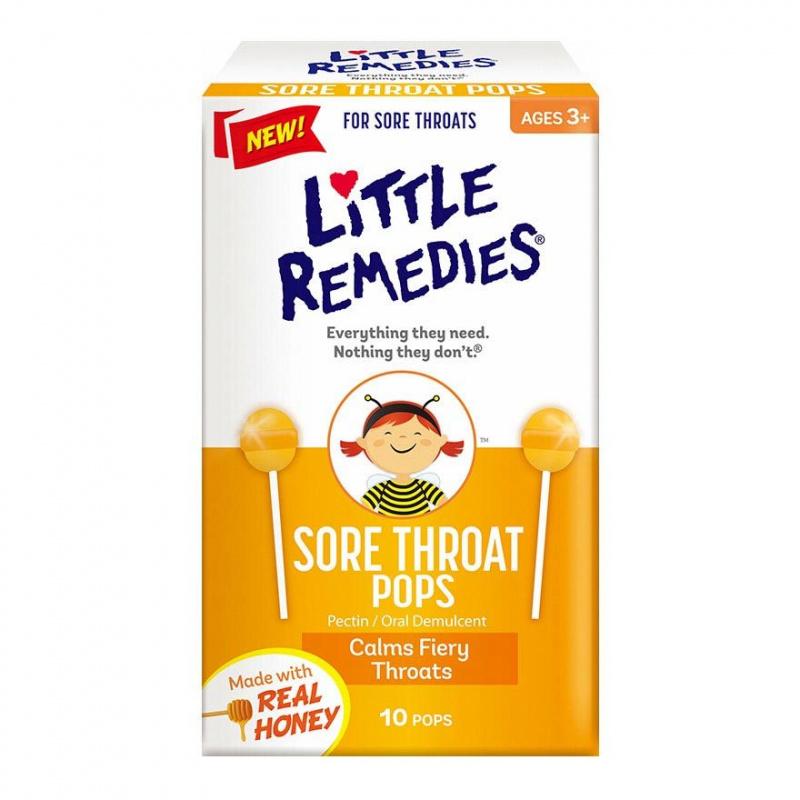 Little Remedies - 天然蜂蜜潤喉止咳棒棒糖 [10支/盒]