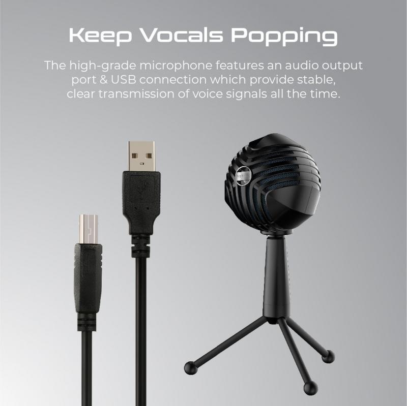 Vertux Sphere-遊戲/錄音 勁型款 超卓級 麥克風 microphone,可360度旋轉,清晰度高,外型超靚