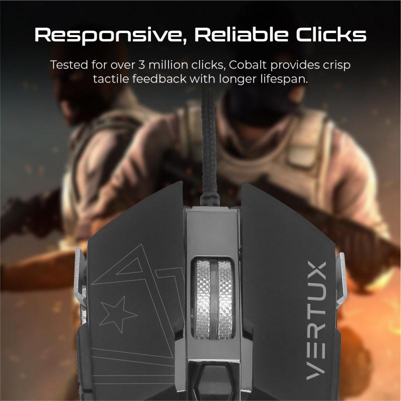 Vertux Cobalt - 高精度免滯有線遊戲鼠標