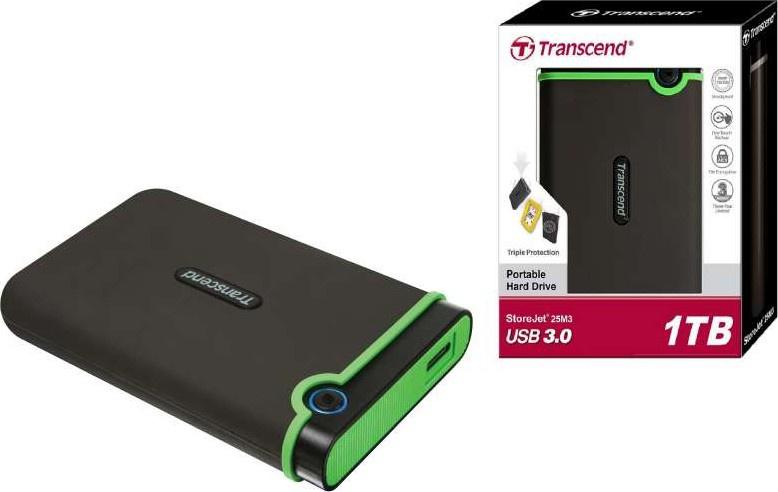 Transcend StoreJet 25M3 抗震外接式硬碟 [1TB/2TB]