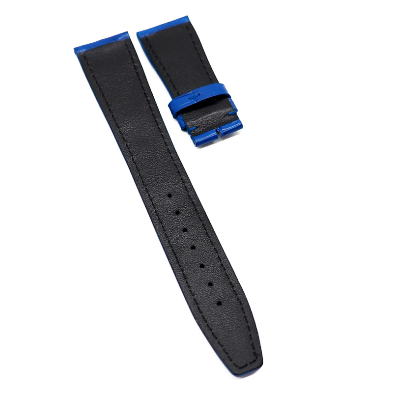 21mm 鮮藍色 IWC 鱷魚皮代用錶帶
