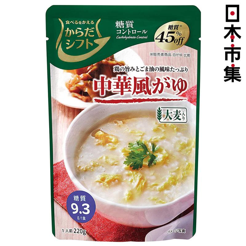 日本 三菱控糖 即食粥 減糖45% 麻油香雞味中華風味粥 220g【市集世界 - 日本市集】