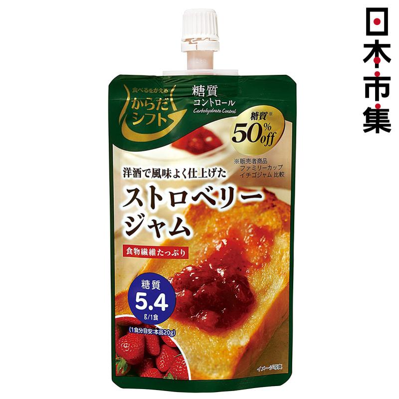 日本 三菱控糖 果醬 減糖50% 洋酒風味士多啤梨果醬 110g【市集世界 - 日本市集】