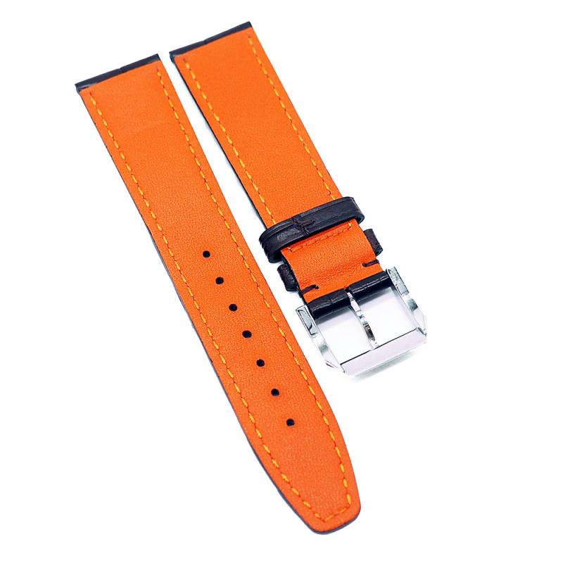 20mm 棕色 IWC 鱷魚皮代用錶帶