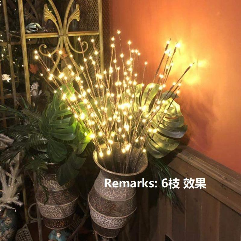USB銀柳新年LED暖白楊柳裝飾燈 (3枝)