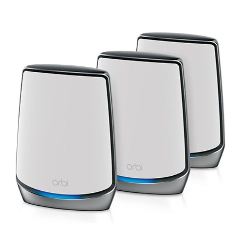 【香港行貨】 Netgear Orbi WiFi 6 三頻 Mesh WiFi 無線網絡系統 3 件套裝 (RBK853)