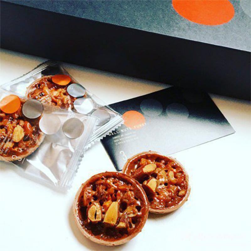 日本G. Newyork 杏仁焦糖 佛羅倫丁薄脆工藝撻甜點禮盒 (1盒12件)【市集世界 - 日本市集】