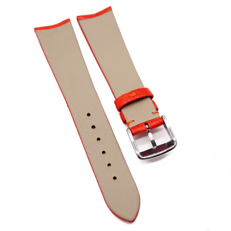 20mm 紅色優質鱷魚皮錶帶