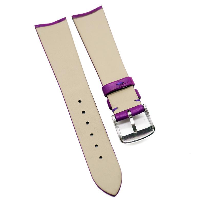 20mm 紫色優質鱷魚皮錶帶