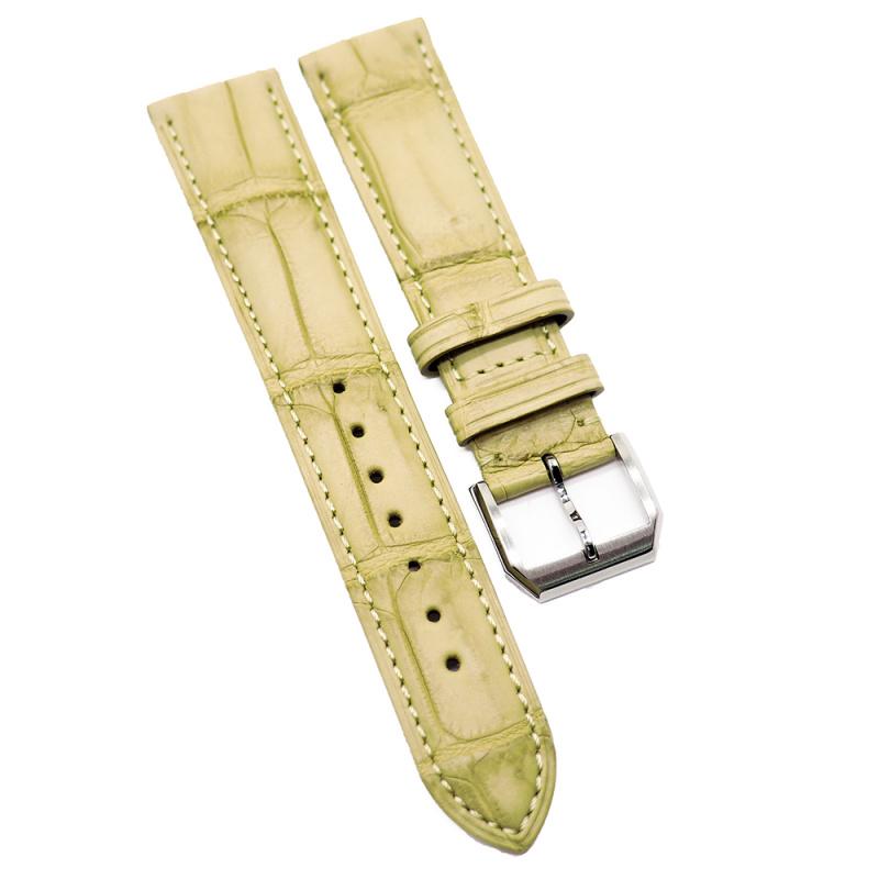 20mm 蔗黃色優質鱷魚皮錶帶