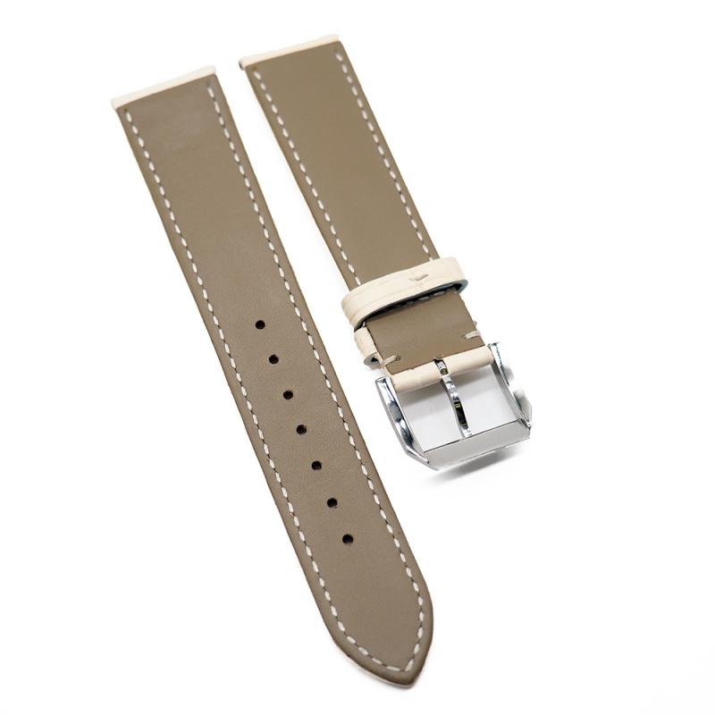 20mm 米白色優質鱷魚皮錶帶