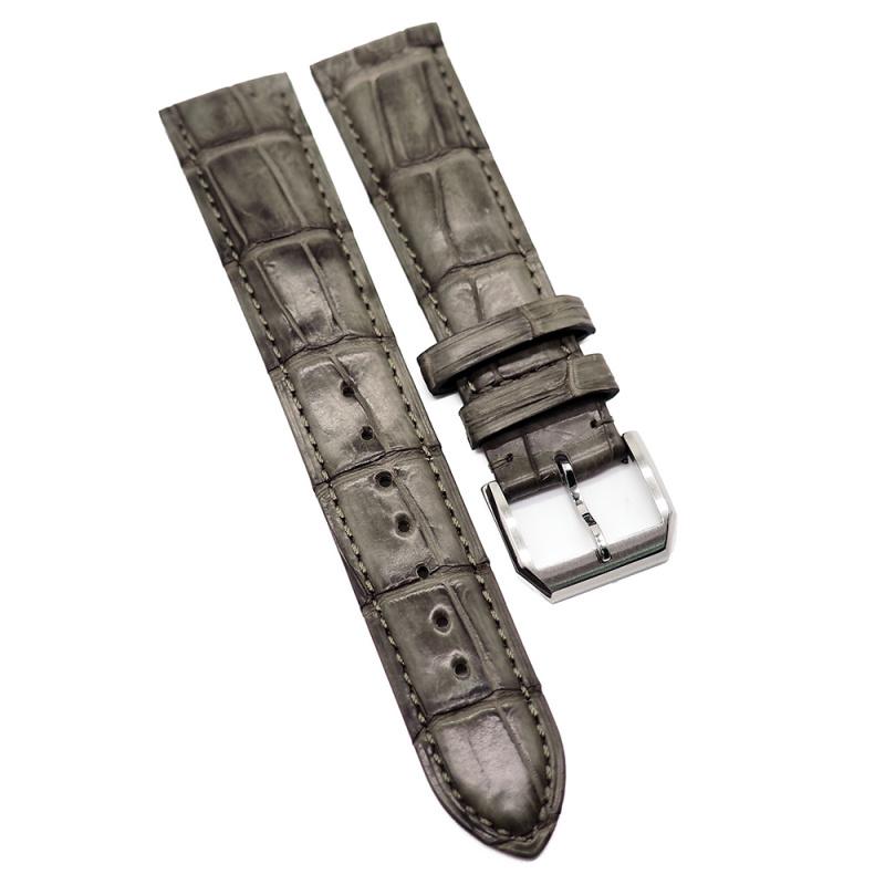 20mm 灰棕色優質鱷魚皮錶帶