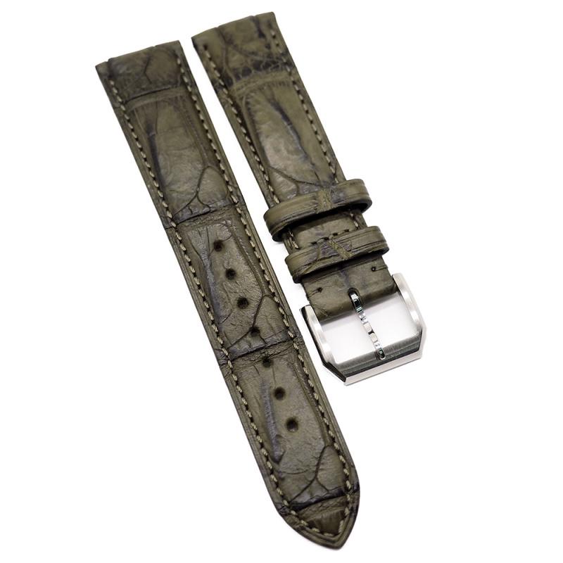 20mm 黃棕色優質鱷魚皮錶帶