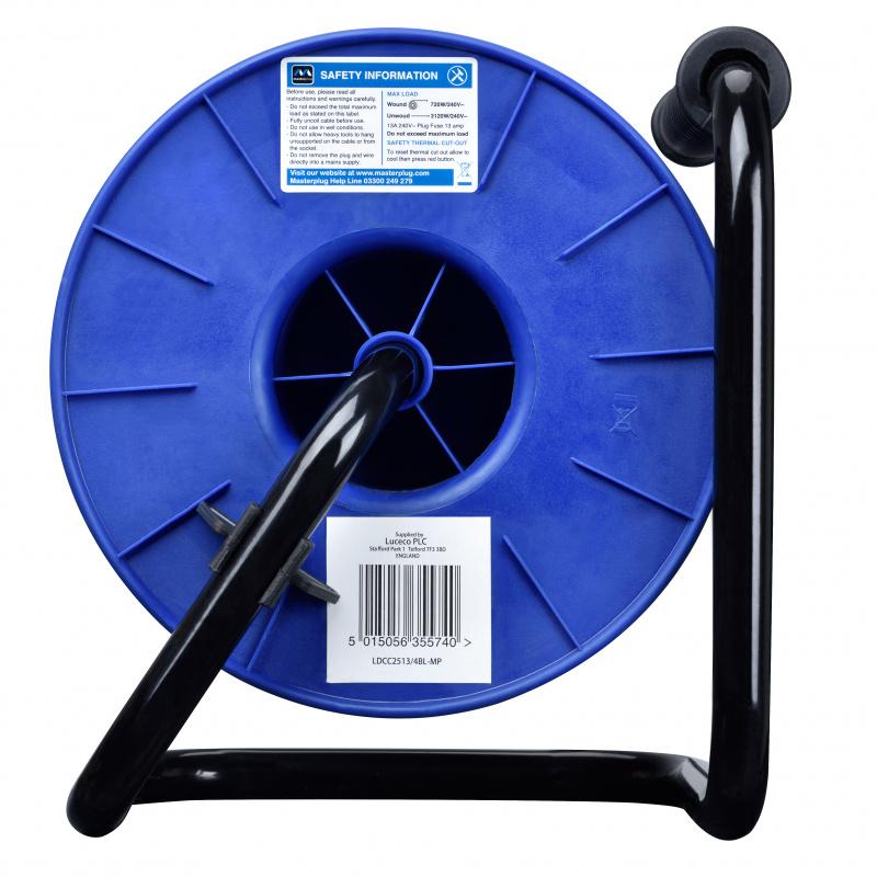 英國Masterplug 4 X 13A 25米拖轆 LDCC2513/4BL 藍黑色