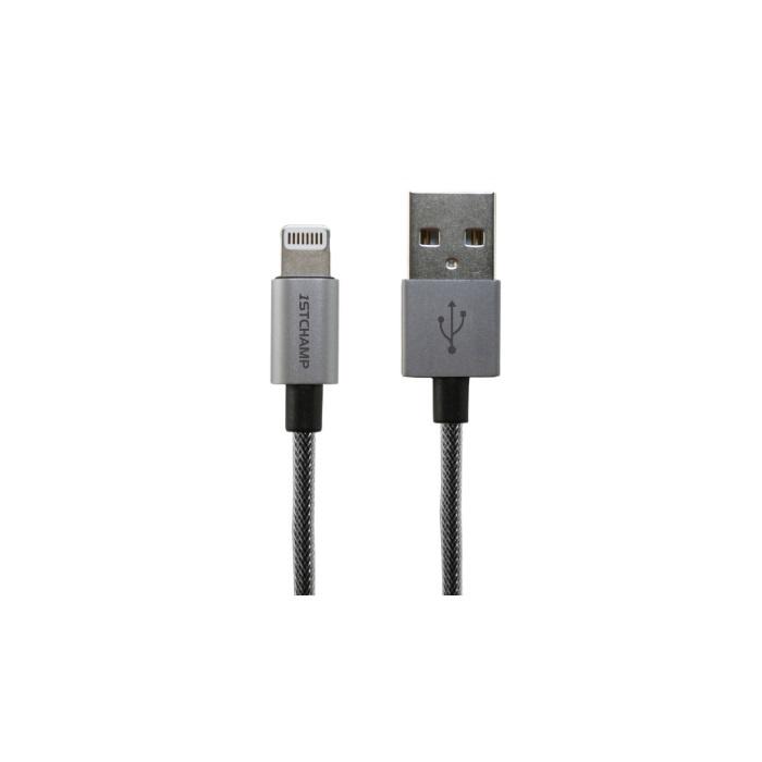 【香港行貨】 First Champion Lightning to USB 1.8M MFi 認証尼龍 Lightning 金屬充電及數據傳輸線