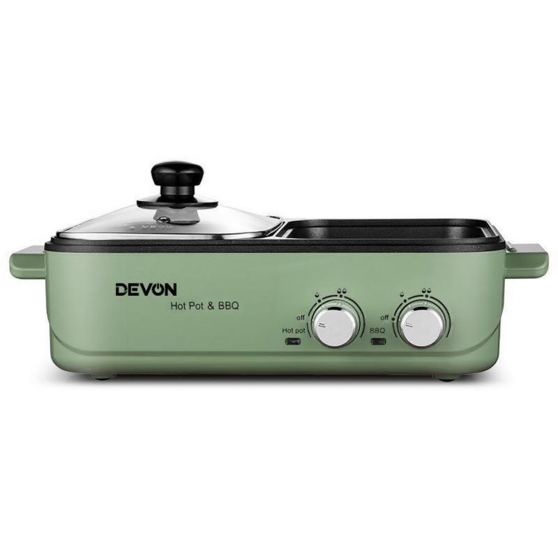 DEVON 大有 - 全能涮烤一體鍋 = 燒烤加邊爐 《3色可選》