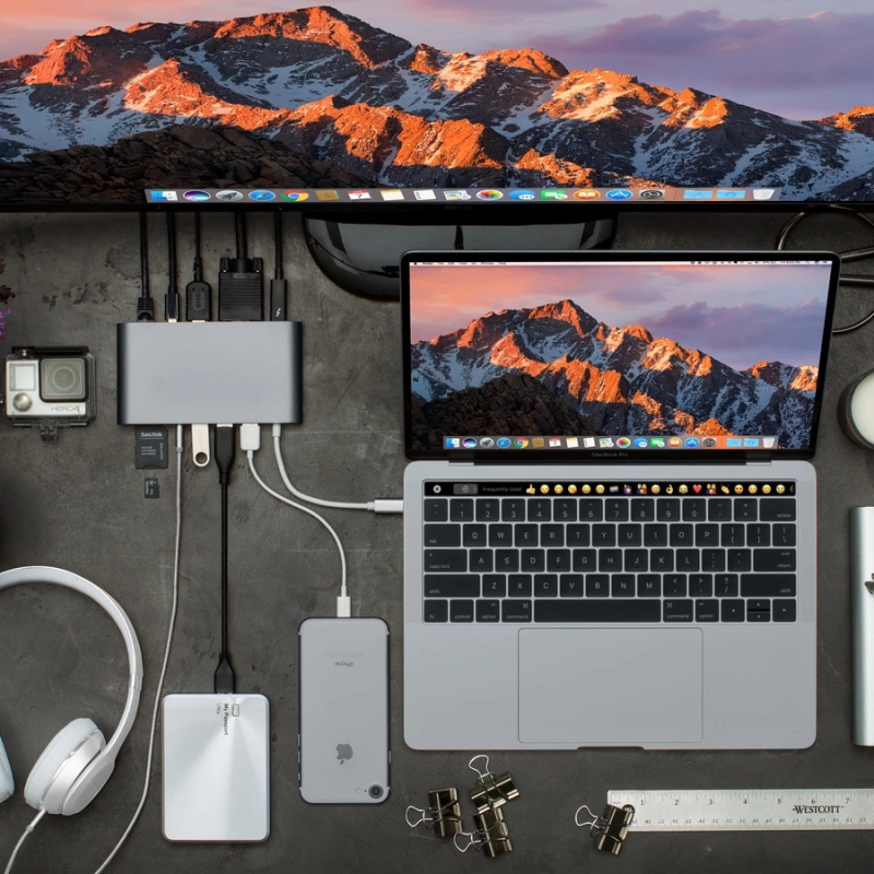 【香港行貨】 HyperDrive Ultimate USB-C Hub for MacBook, PC, USB-C Devices