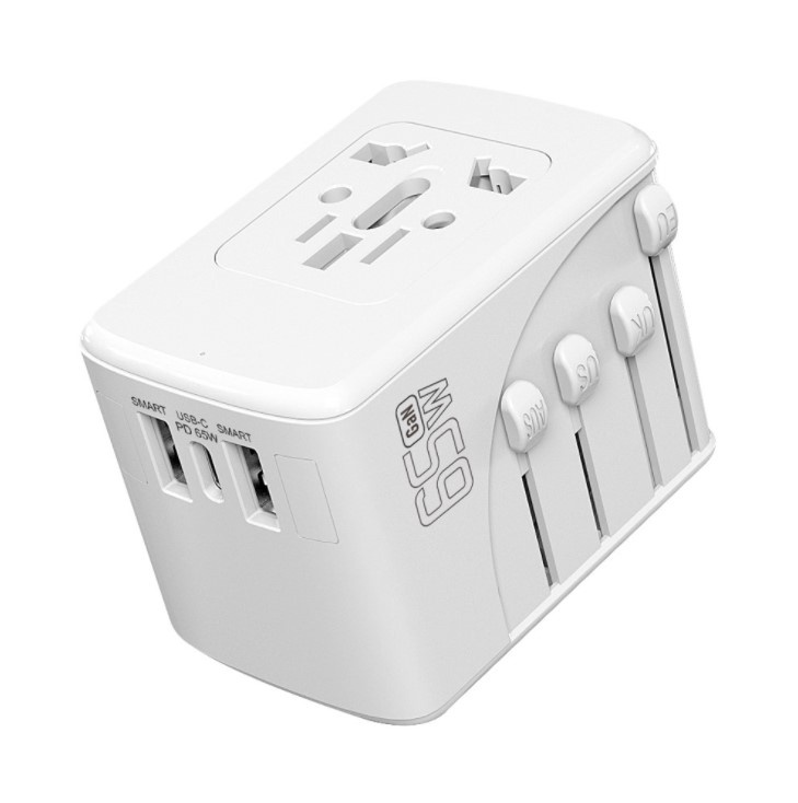 Ouliyo 65w氮化鎵GaN充電器 PD多口快充轉換器 多國旅行多功能轉換插座