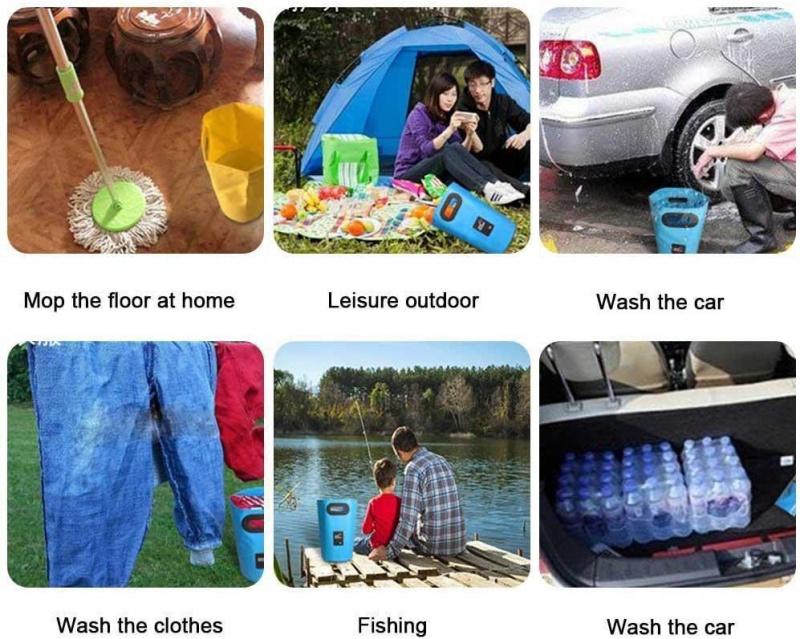 摺疊15L水桶 釣魚 露營 洗車 BBQ