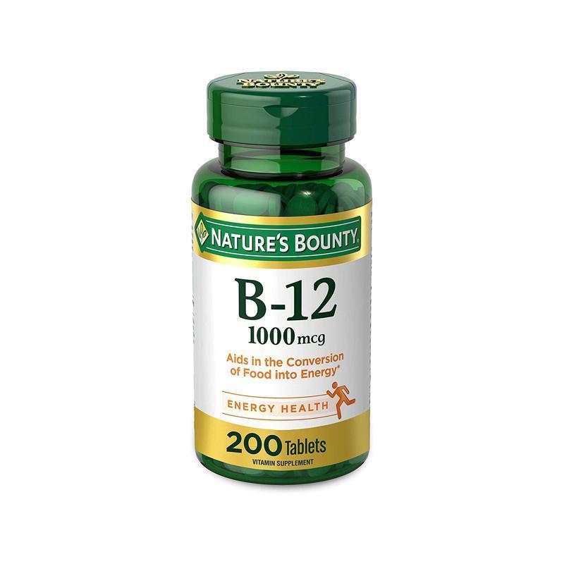 Nature's Bounty Vitamin B12 200 Tablets