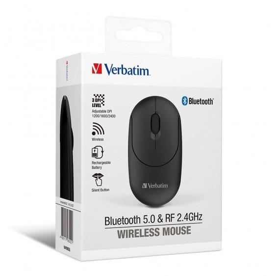 Verbatim 雙模式無線靜音滑鼠 (66522/66523)