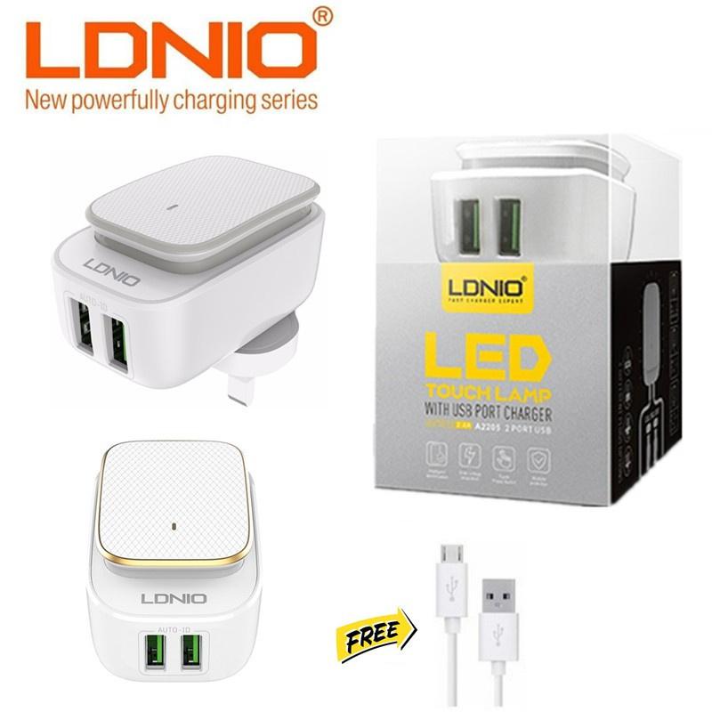 LDNIO A2205 USB x2 充電器(白色)