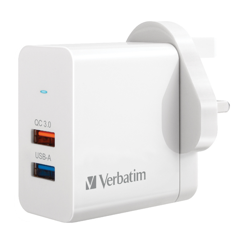 Verbatim 威寶 2 Port 25W QC 3.0 USB Charger 充電器 (66569)