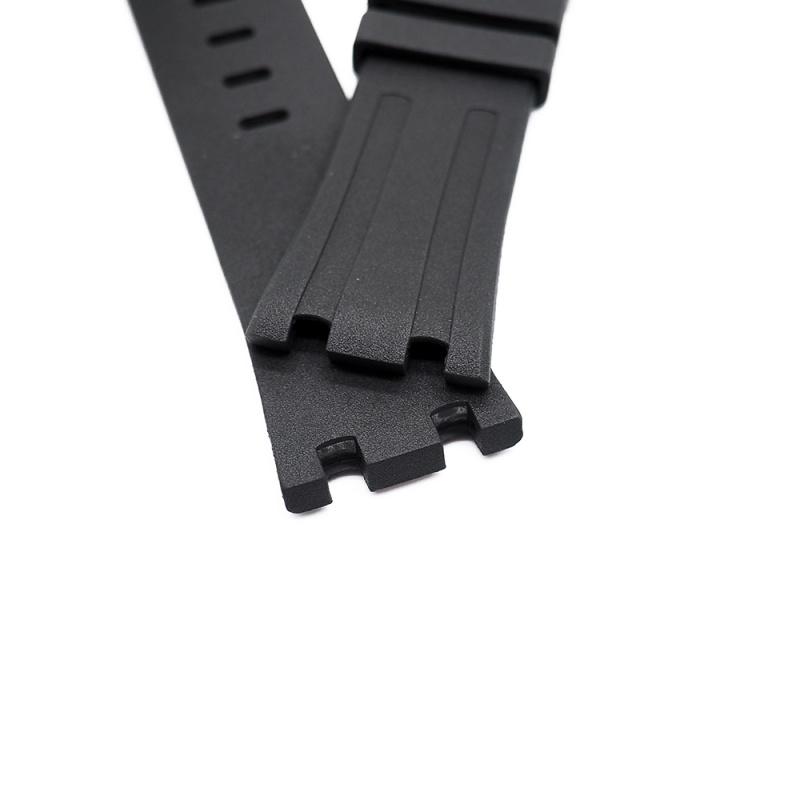 28mm 黑色氟橡膠錶帶 合適 Audemars Piguet Royal Oak Offshore 42mm