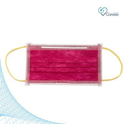 【限定色】成人三層醫護口罩 20片 ASTM Level 3 (獨立包裝) (新年紅配黃金耳色)