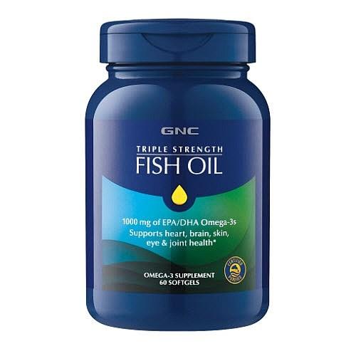 GNC Triple Strength Fish Oil 三倍強效深海魚油 1000mg [60粒]