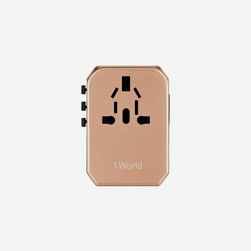 Momax 1-World USB AC 旅行插座(Type-C + 4 USB-A)(2色)#UA5
