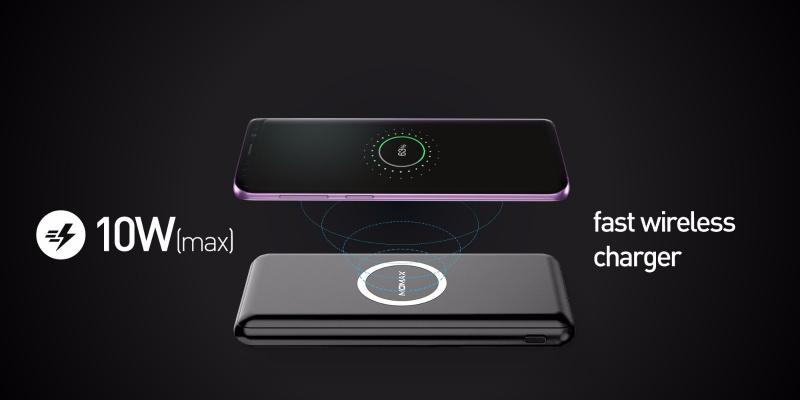 Momax Q. Power Minimal無線充電流動電源10000mAh(4色)#IP89