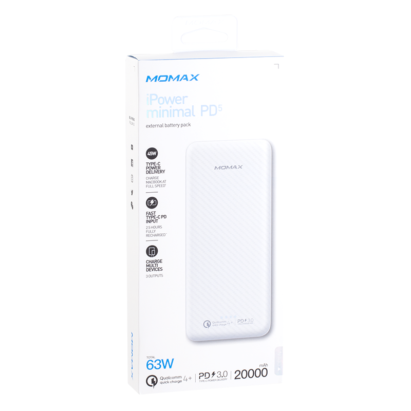 iPower Minimal PD5流動電源20000mAh(2色)#IP71