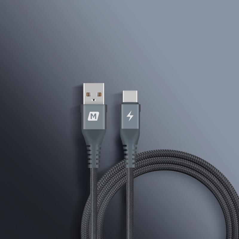 Momax Elite Link USB-A to USB Type-C 1.2M連接線(灰)