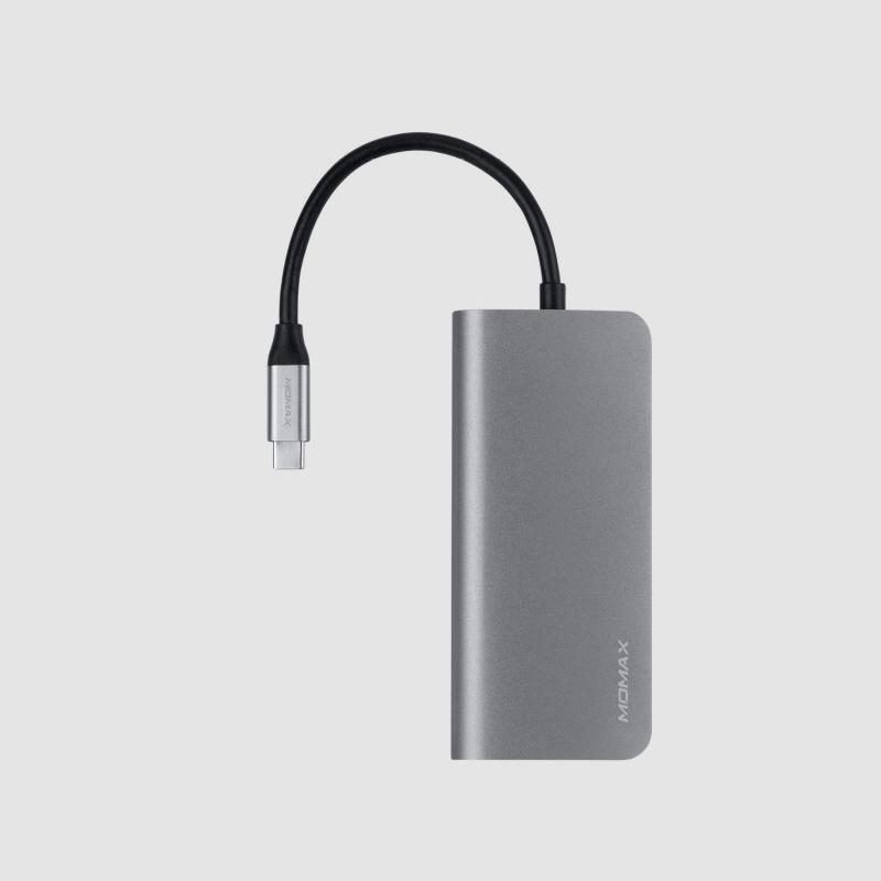 One Link8合1 USB-C 擴充器(灰)